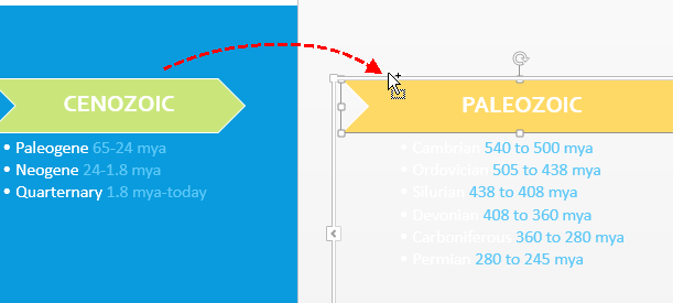 Copy Shape of Timeline in PowerPoint
