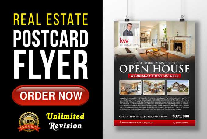 Real Estate Open House Postcard