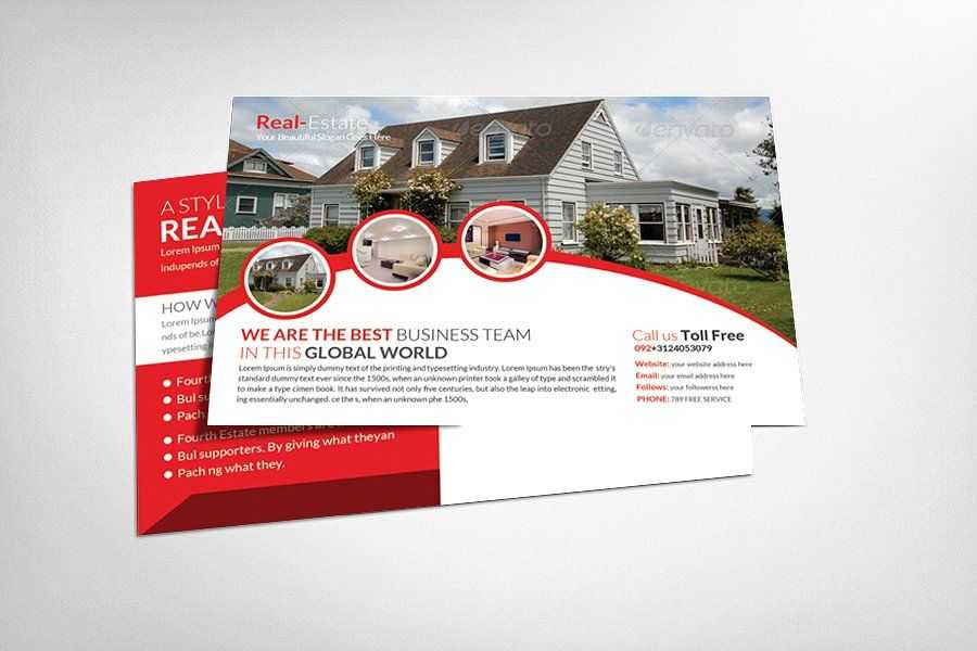 Real estate postcard design templates