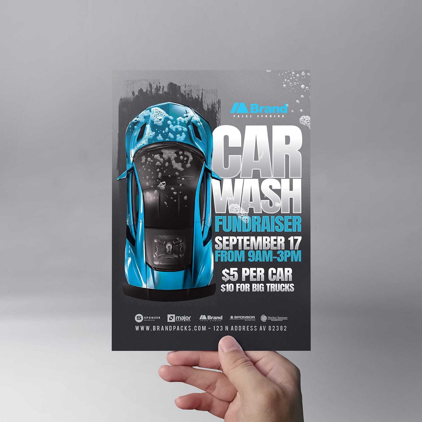 Fundraiser Car Wash Flyer Template