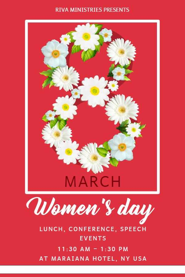 Womens Day Fundraiser Flyer Template