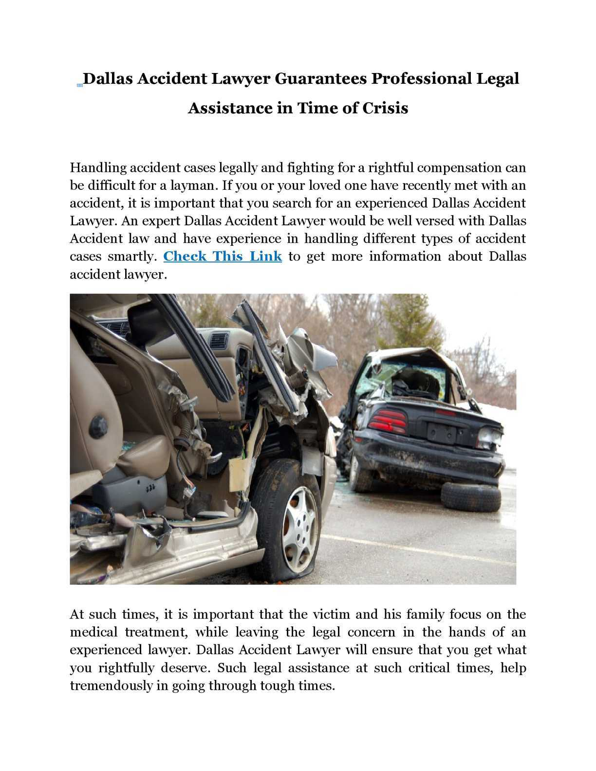 When Should You Get A Dallas Accident Lawyer