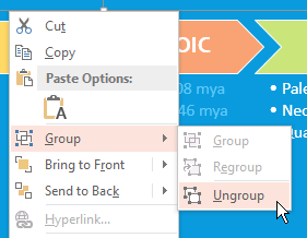 Ungroup Shape of Timeline In PowerPoint
