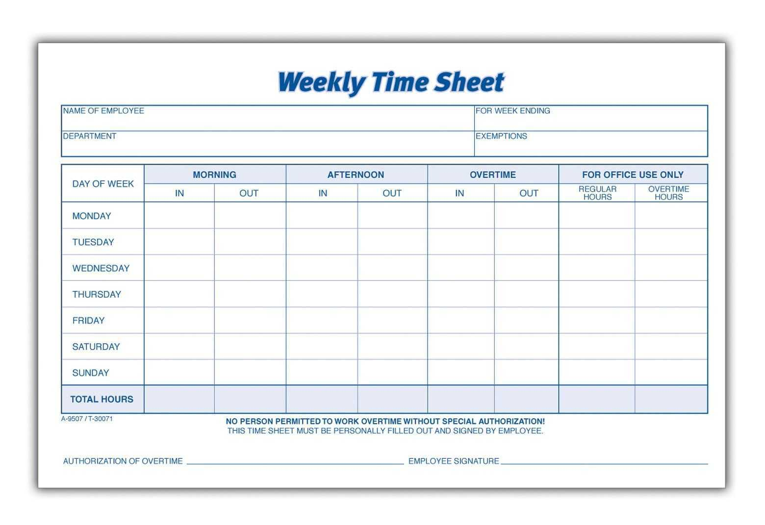 Save Time Easy Weekly Timesheet Template