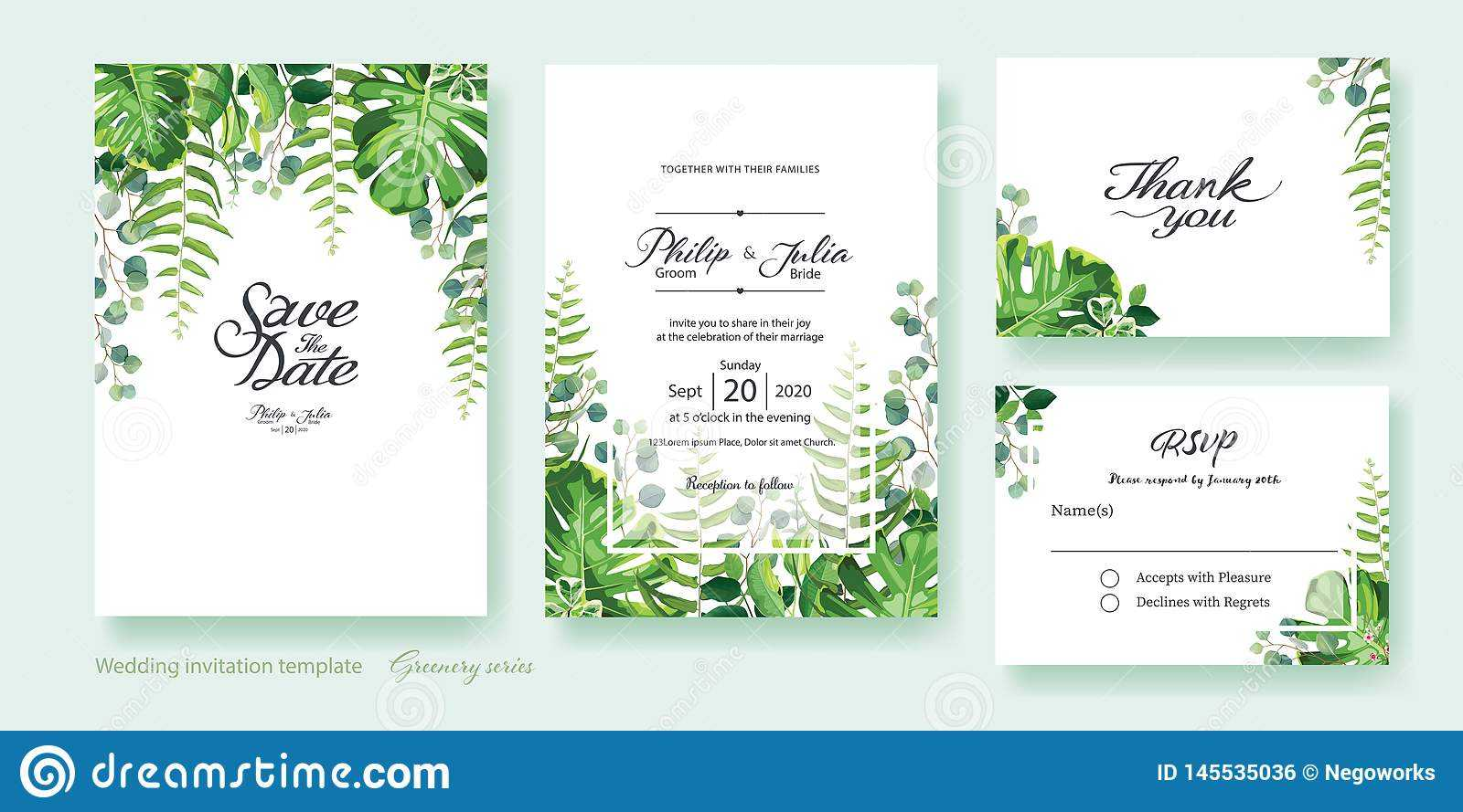 Free Marriage RsvpInvitation Card Template