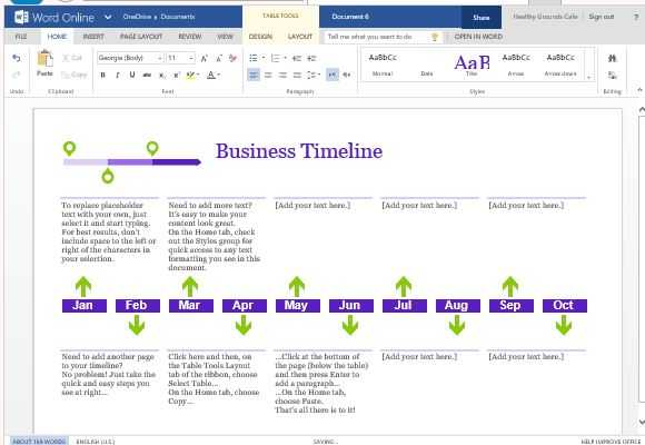Project Timeline Template in Ms Word