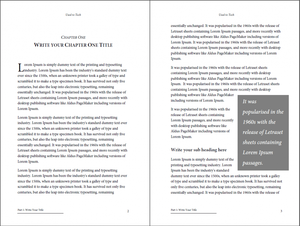 Sample Booklet Template For Ms Word
