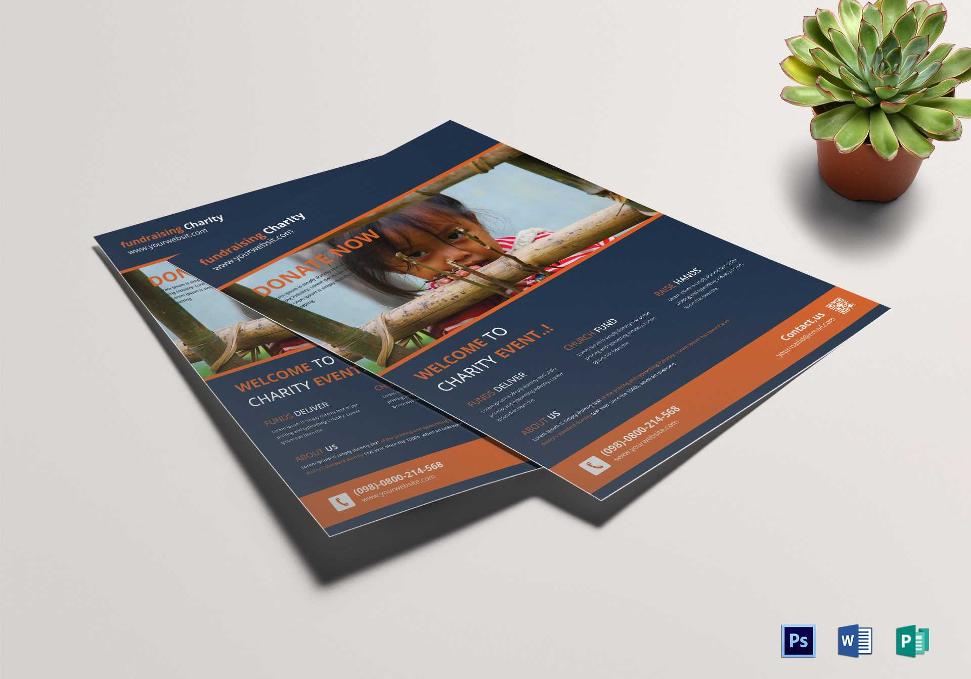 Helpful Charity Fundraisers Flyer Template