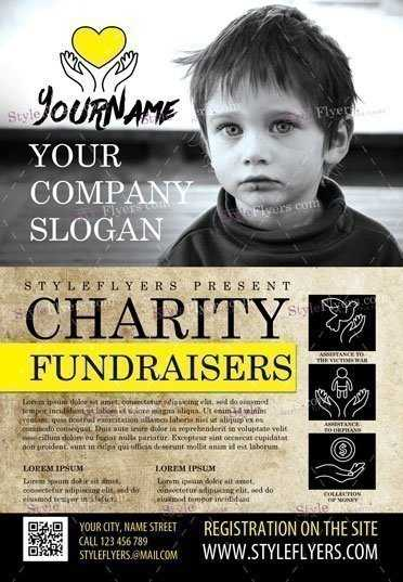Charity Fundraising Flyer Print Template