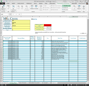 Journal Entries Excel Template