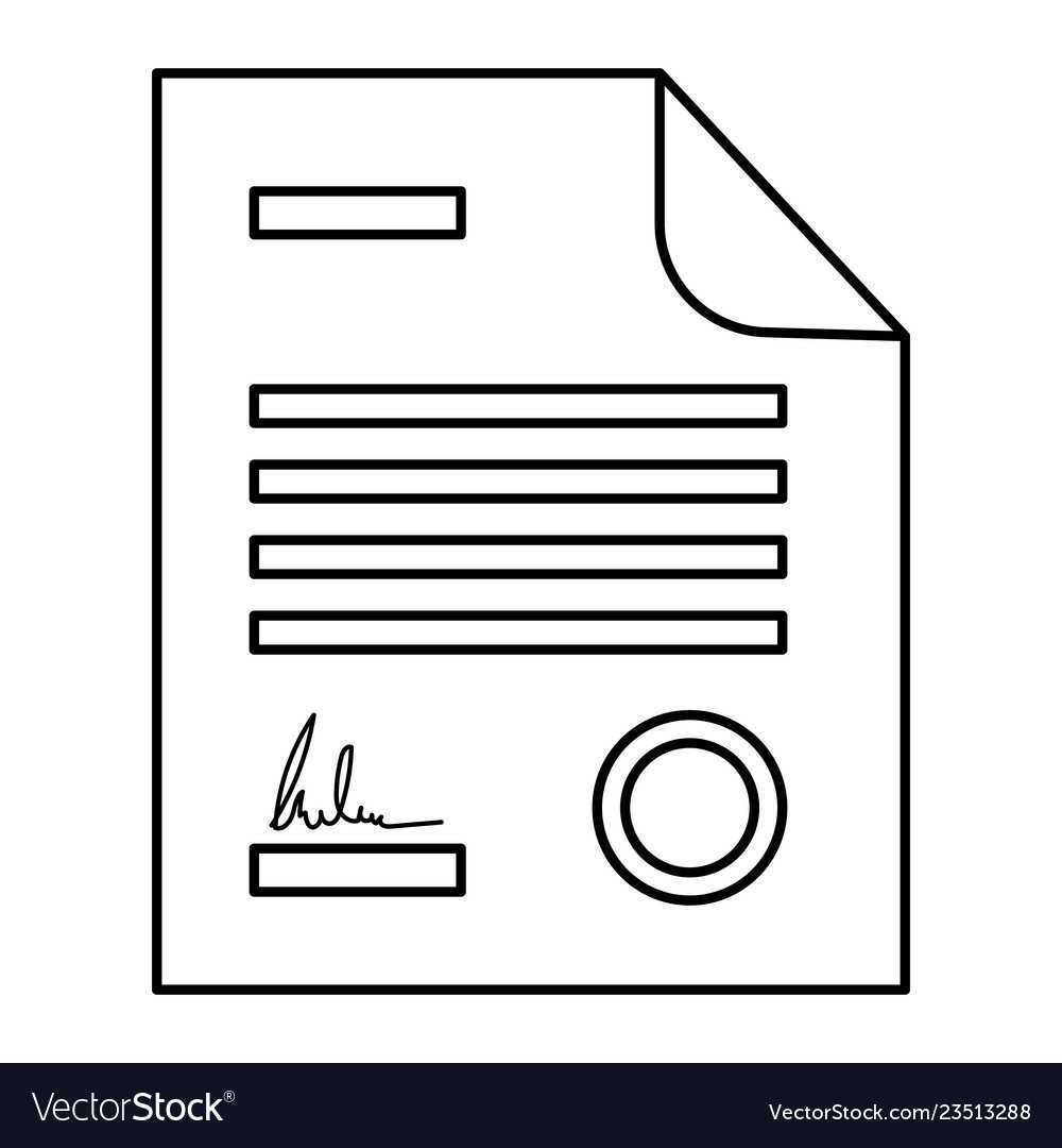 legal contract icon vector 23513288