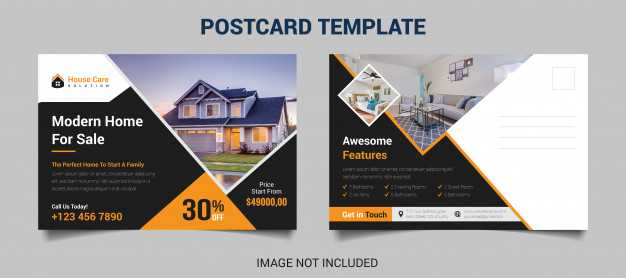 House For Sale Real Estate Postcard Template